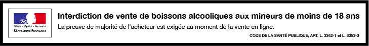 Vous reconnaissez avoir plus de 18 ans pour naviguer sur ce site. L'abus d'alcool est dangereux pour la santé. Il doit être consommé avec modération.